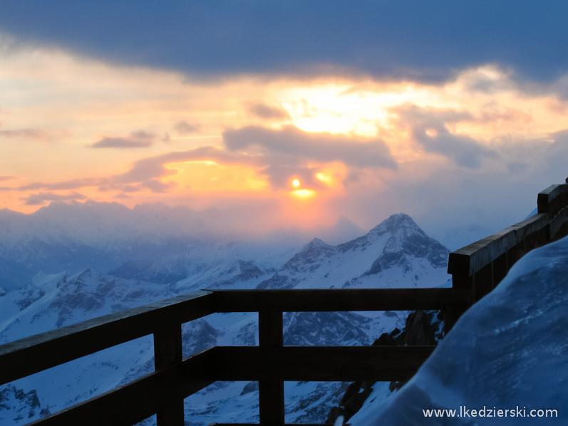 monte rosa zachód słońca