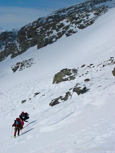 monte rosa zimą alpy