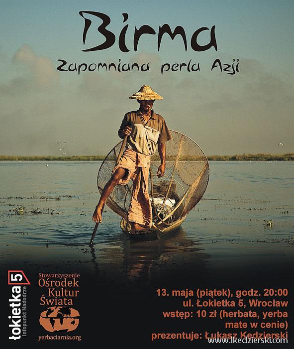 plakat prelekcji o birmie