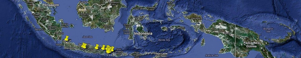 panorama indonezja mapa podróży