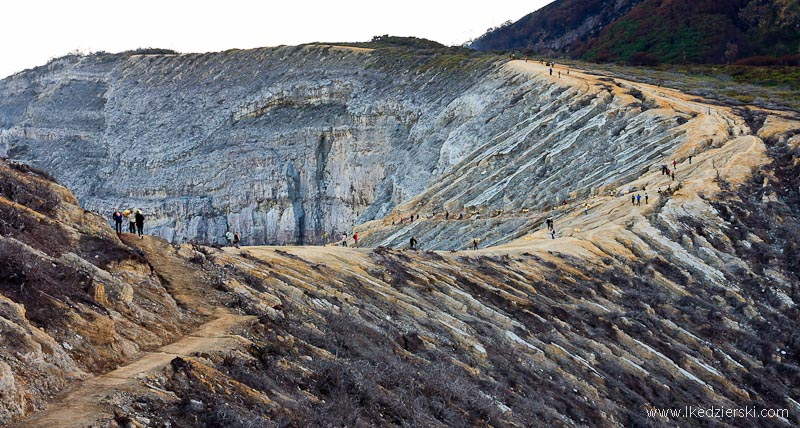 Kawah Ijen krawędż kaldery