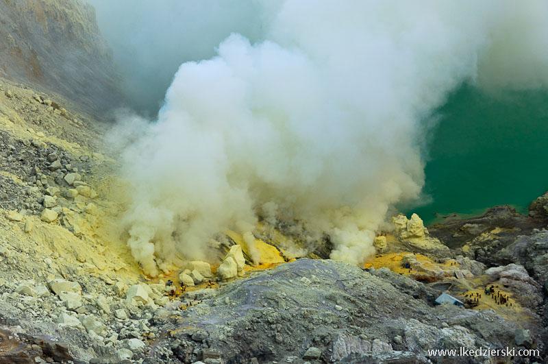 Kawah Ijen toksyczne fumarole