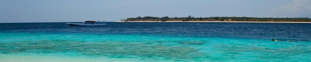 panorama gili trawangan plaża
