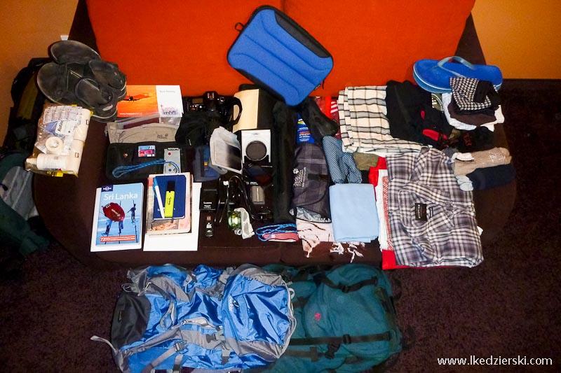 sri lanka podróż pakowanie