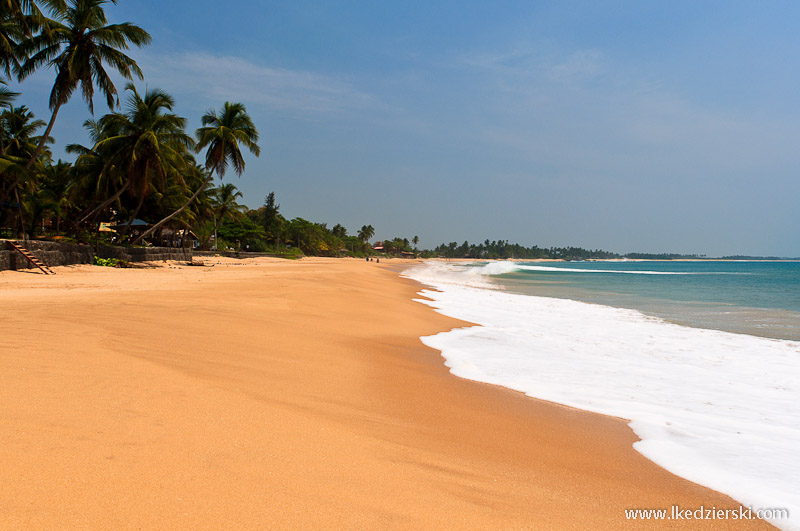 sri lanka podróż tangalle plaża