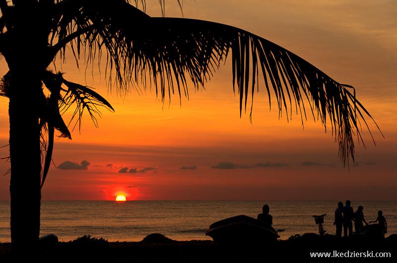 sri lanka podróż negombo zachód słońca