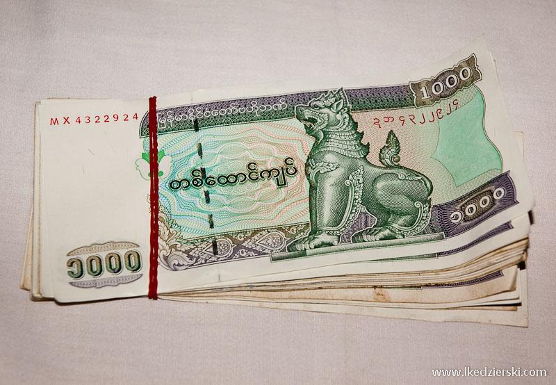 birma informacje praktyczne pieniądze