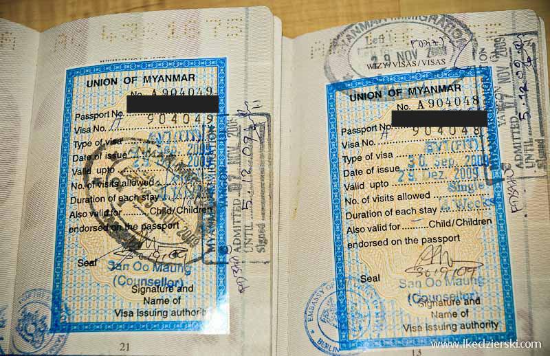 birma informacje praktyczne wiza