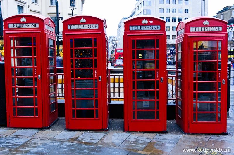 zwiedzanie londynu budki telefoniczne