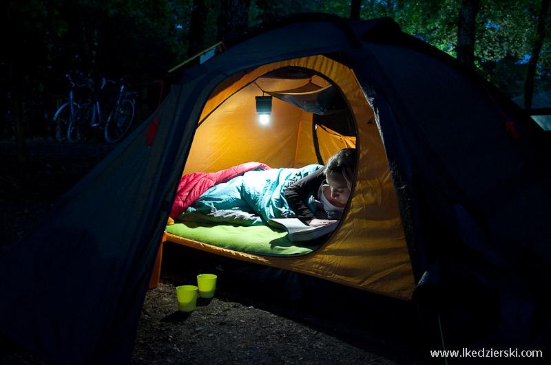 noclegi w podróży namiot