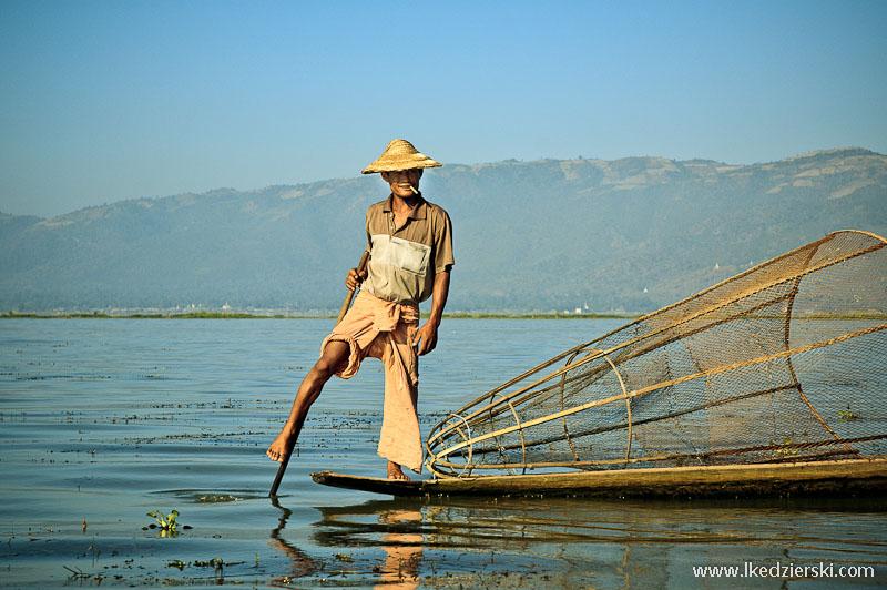 podróż do birmy rybak inle lake