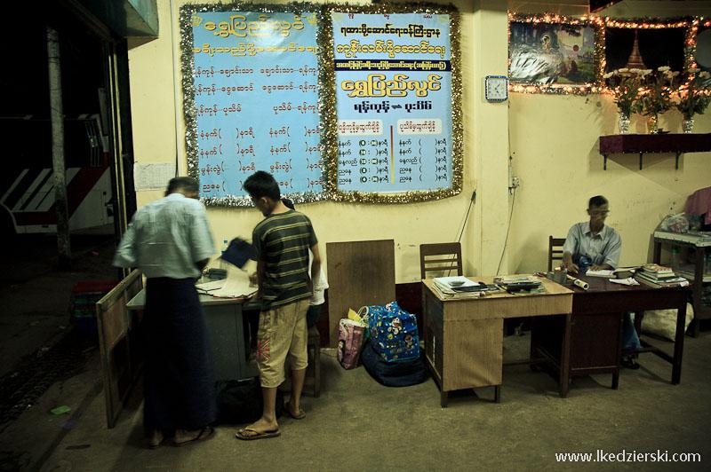 transport w birmie kasa biletowa
