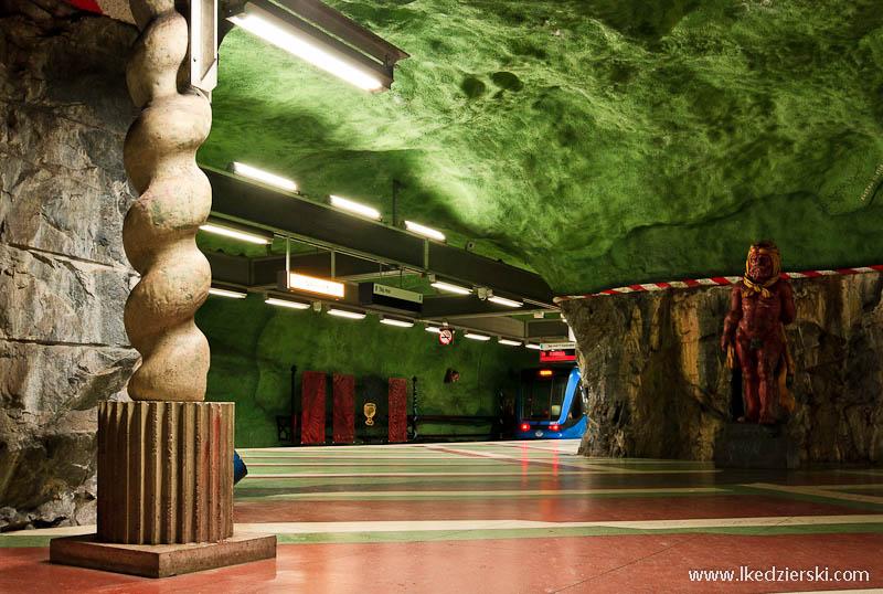 metro w sztokholmie kungstradgarden