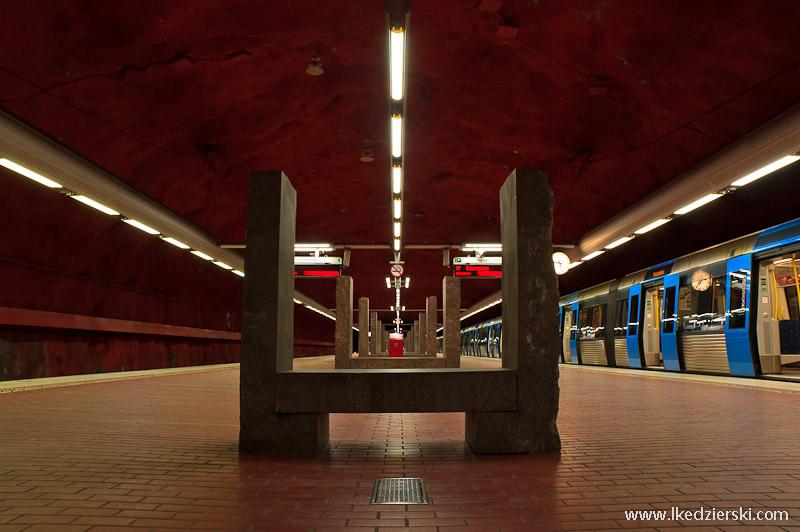 metro w sztokholmie skarpnack