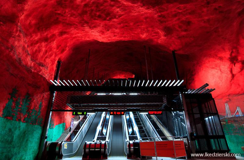 metro w sztokholmie solna centrum