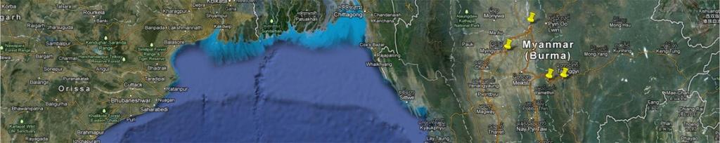 panorama birma mapa podróży