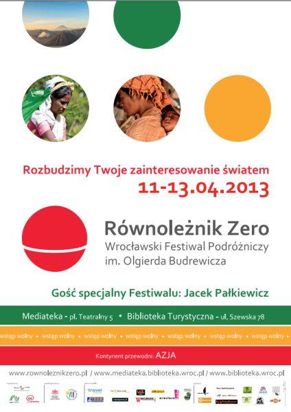 plakat festiwalu równoleżnik zero