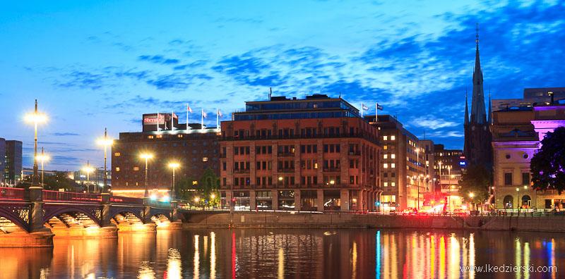 sztokholm nocny krajobraz