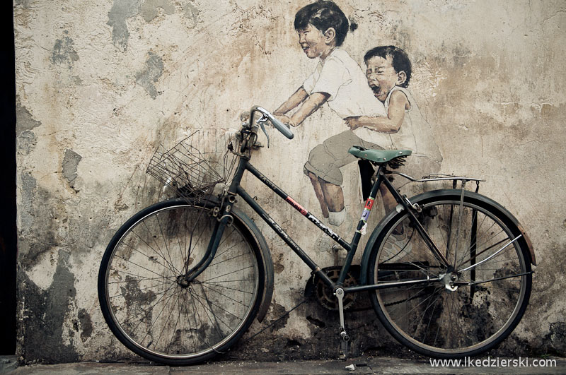 georgetown little children on bicycle mural