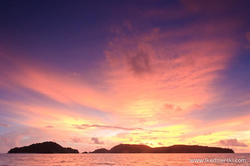 Langkawi. Kolejny, przepiękny zachód słońca.