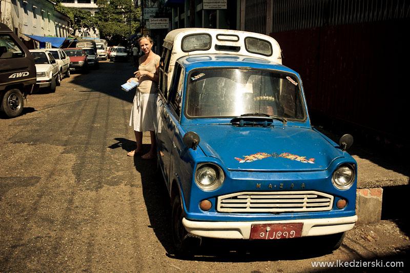 rangun blue taxi