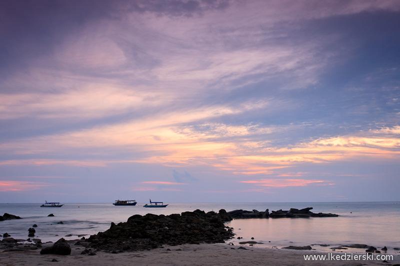 wyspa tioman zachód słońca