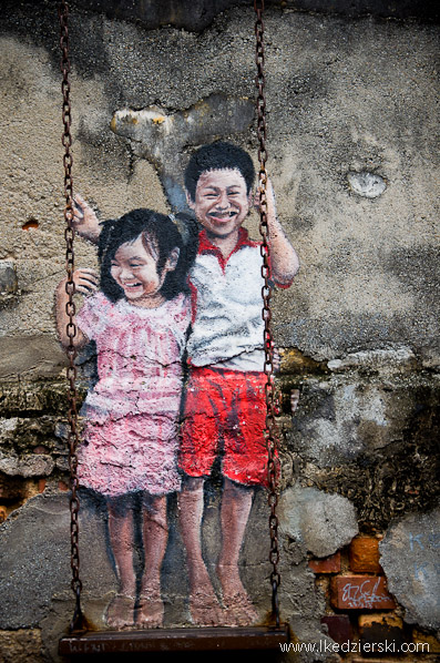 murale w georgetown Louis Gan Brother and Sister on a Swing
