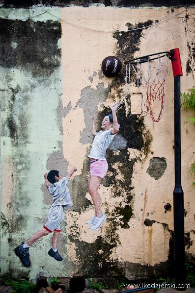 murale w georgetown louis gan Children Playing Basketball