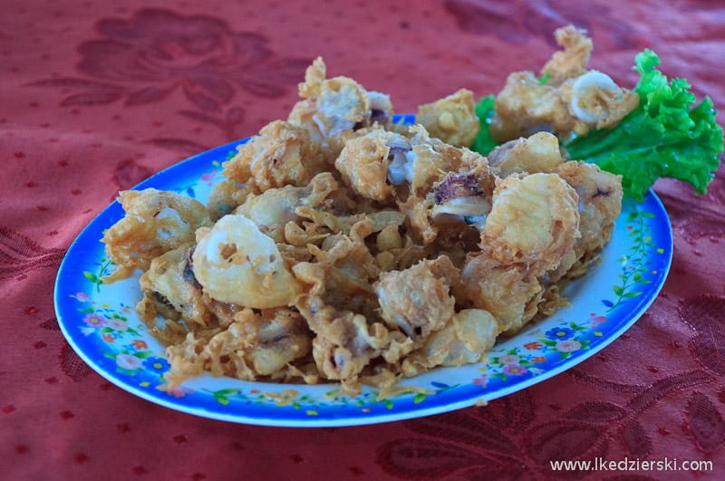 jedzenie w malezji kalmary