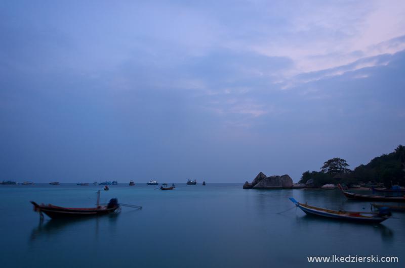 tajlandia wyspa koh tao zachód słońća