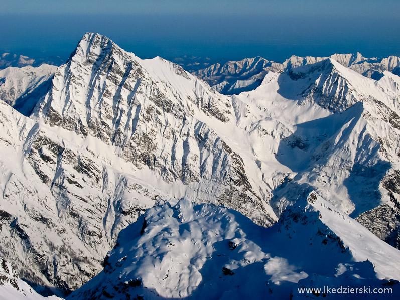 monte rosa alpy zimą