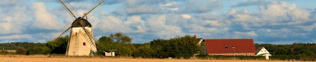 panorama wiatraki bornholmu