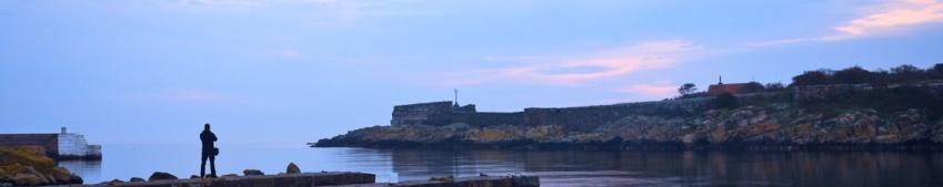 panorama christiansø o wschodzie słońca