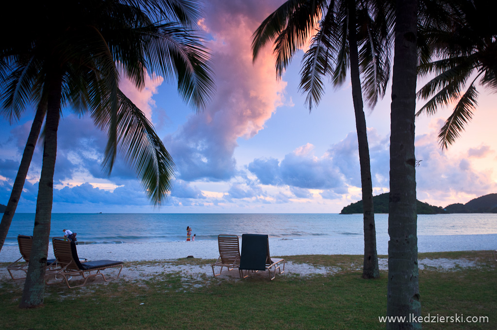 langkawi beach sunset zachód słońca