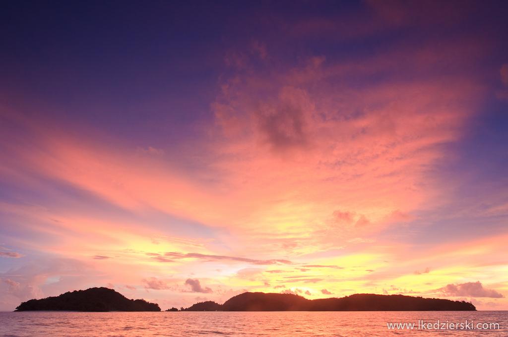 zachód słońca na langkawi beach sunset
