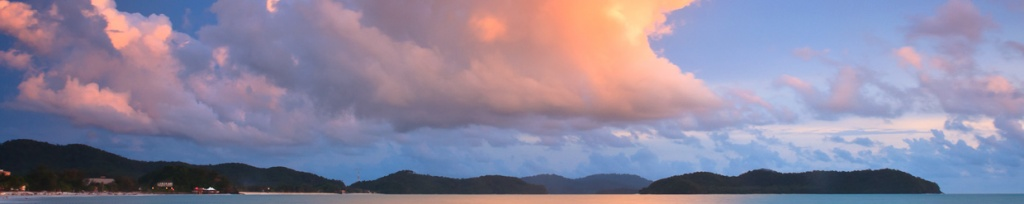 panorama langkawi sunset photo