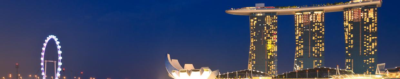 panorama singapur by night