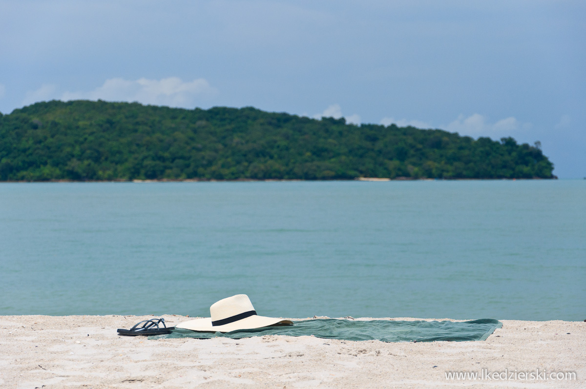 plaża na langkawi kapelusz na plaży