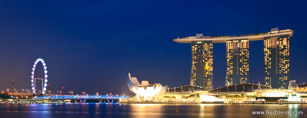 singapur by night marina bay sands