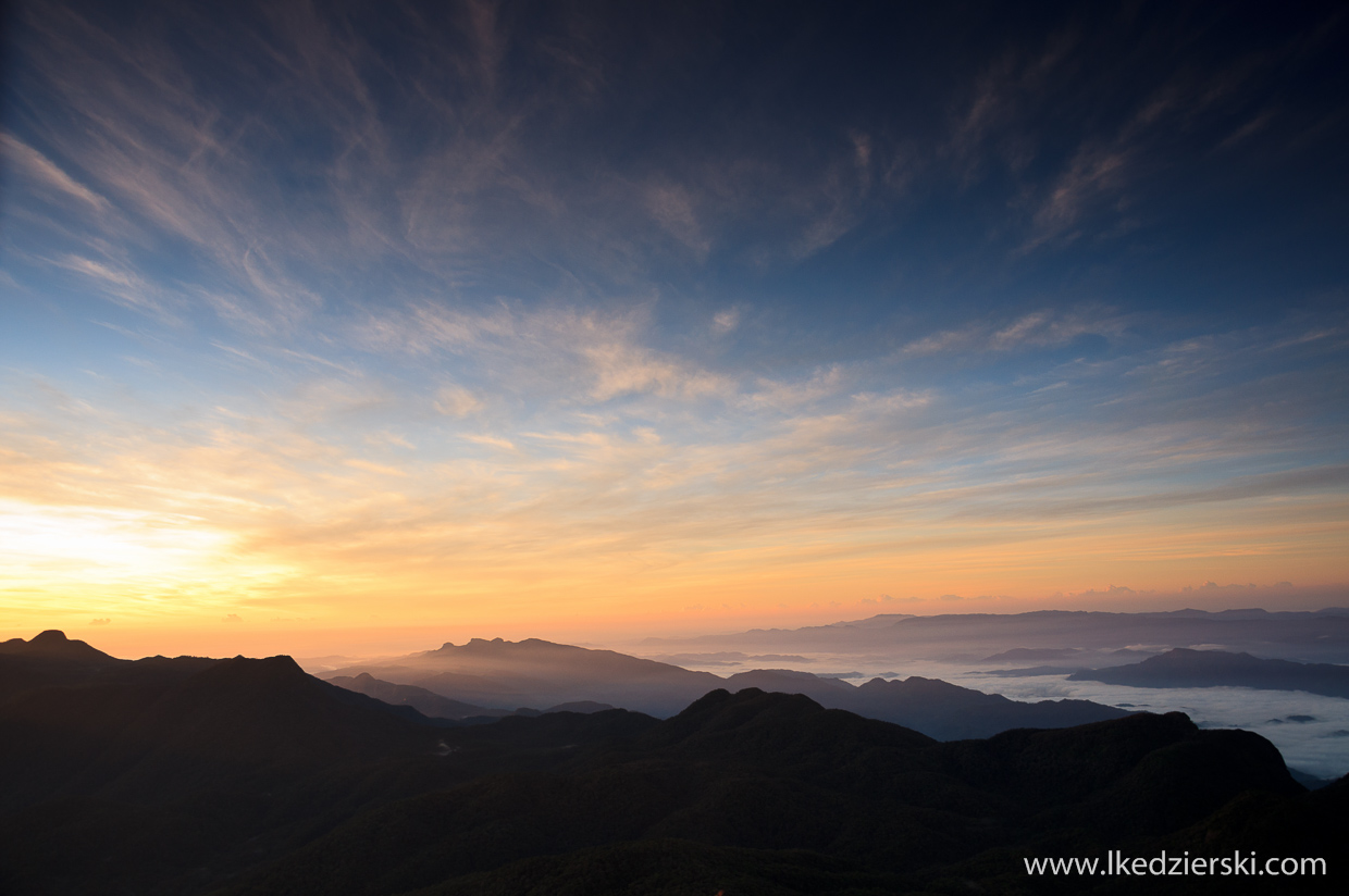 sri lanka adam's peak sunrise