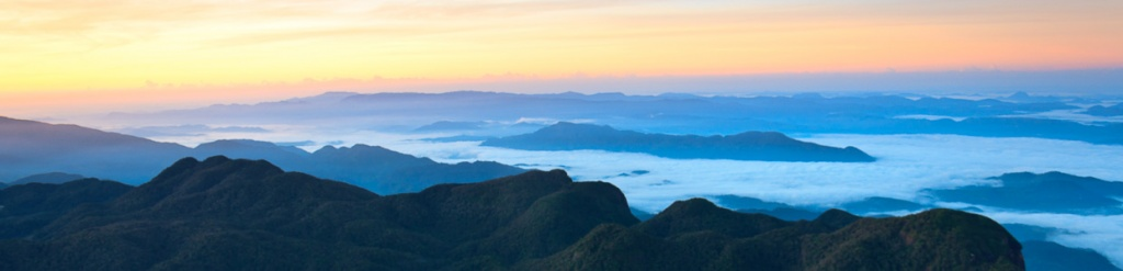 panorama adam's peak sunrise