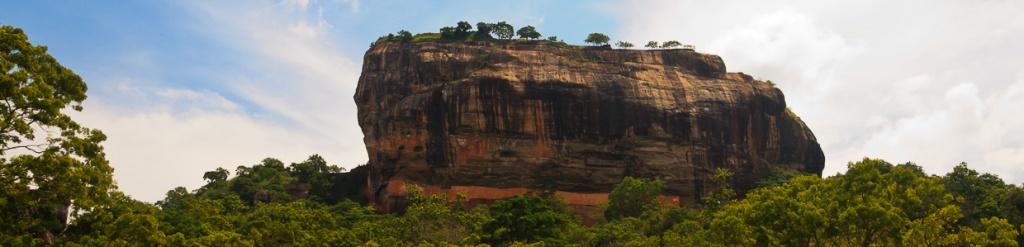 panorama sigiriya lwia skała