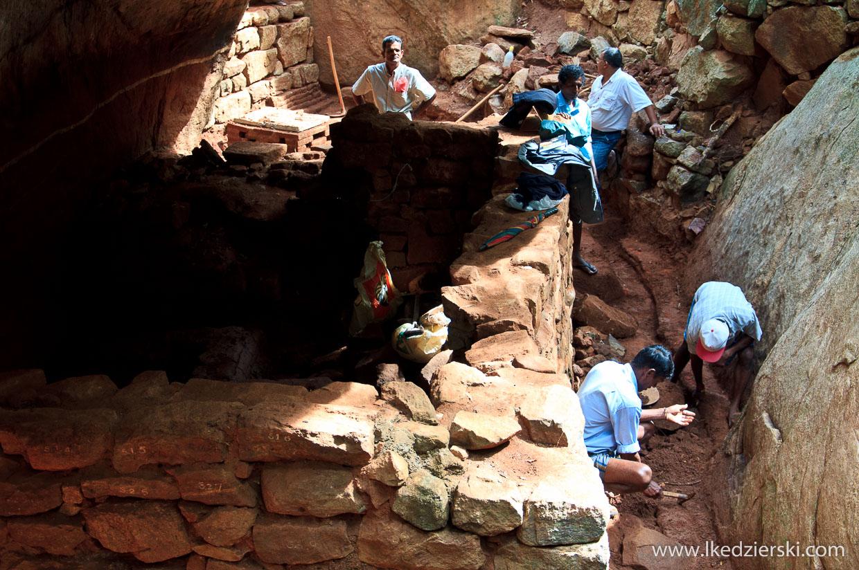 sri lanka sigiriya lwia skała stanowisko archeologiczne