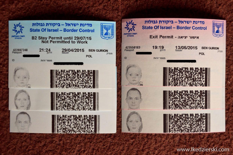 izrael informacje praktyczne visa permit