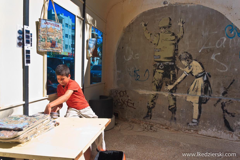 betlejem mur bezpieczeństwa graffiti Banksy
