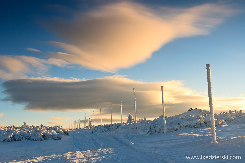 karkonosze,  śnieżka, sunrise, wschód słońca w Karkonoszach