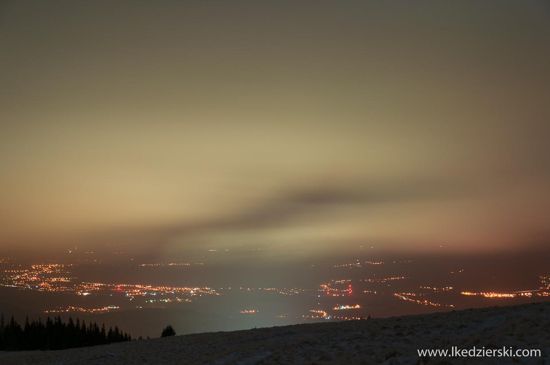 nocne zdjęcia karkonoszy
