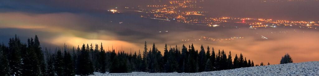 panorama nocne zdjęcia karkonoszy