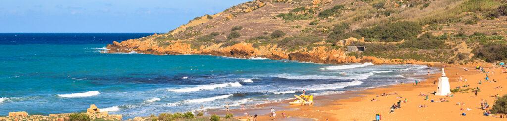 panorama ramla bay gozo beach