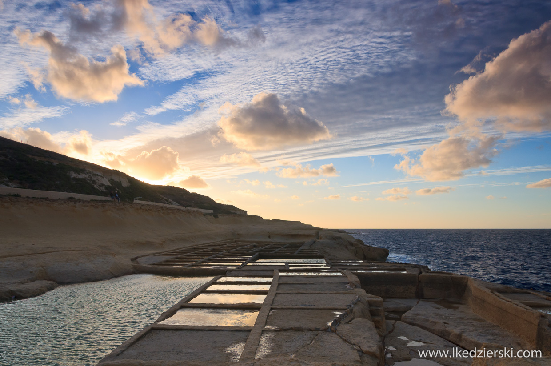solanki na gozo, salt pans, sunset, zachód słońca zdjęcia